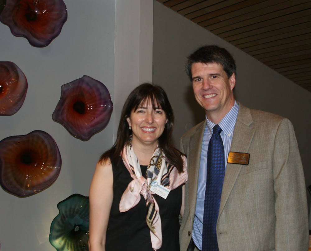 Amy Howorth and MBUSD Superintendent Dr. Michael Matthews