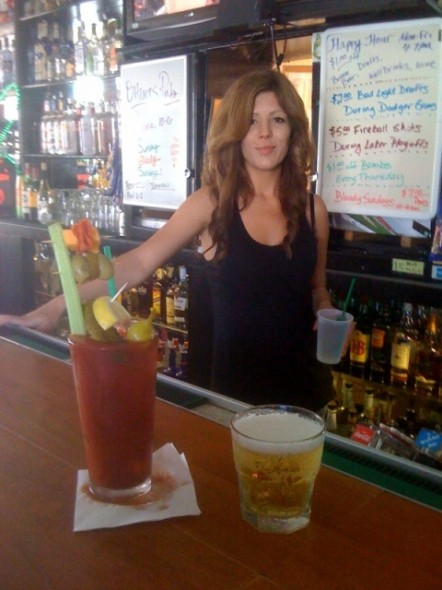 Jessica O'Hearns and her Bloody Mary special