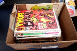 Comic books at Geoffrey Patterson's house.