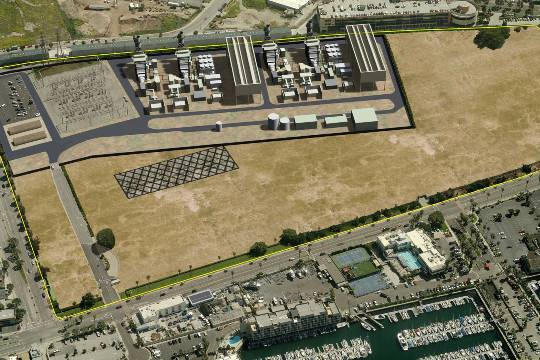 AES's conceptual plan to downsize its Redondo power plant.