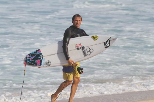 Alex Gray surfing