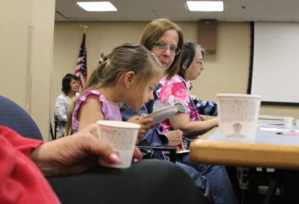 Amanie Aisley, 4, sniffs tea leaves at a tea tasting last week inside the El Segundo Library.