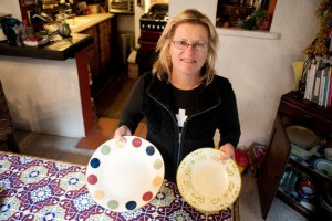 Nancy Fulton Rogers swapped her dinner plates for 10 inch plates as part of the Blue Zones Personal Pledge. Photo by Chelsea Sektnan.