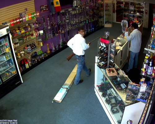 Surveillance footage of the crime. Photo courtesy of MBPD