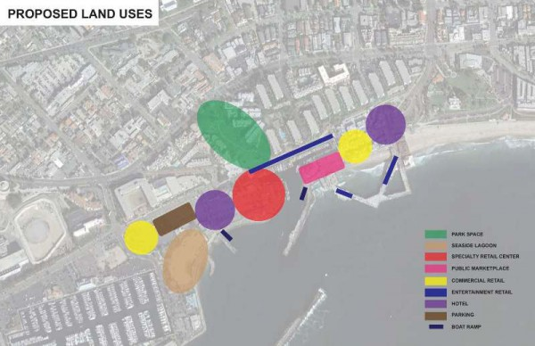 Six proposed landuse possibilities. Submitted by Pacifica Companies.