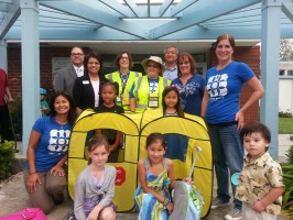 Lincoln Elementary school students celebrate the second year of Walking School Bus. Photo submitted by the Beach Cities Health District