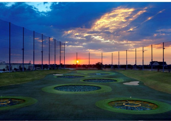 A TopGolf driving range in Allen, Texas. Image courtesy TopGolf