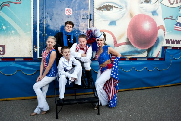 """Jon and Laura have raised their children Jonny, 18, Nicole, 15 and Max, 12, on the road. """"I always admired families who dedicated their lives to the circus,"""" said Jon. """"It's a lost generation and I'm happy to be one of them."""" Jon said that he feels lucky because he gets to spend all day with his family and the circus life is especially safe for the children because everybody keeps an eye on them."""
