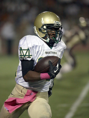 Mira Costa running back Raphael Lawson-Gayle was among three players named Tri-Offensive Players of the Year in the Bay League. Photo by Ray Vidal