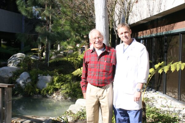 Richard and Todd Shrader, outside the Torrance Orthopaedic and Sports Medicine Group. Submitted photo