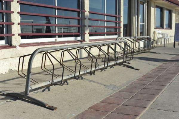 Bike rack at Scotty's on the Strand. Photo by Chelsea Sektnan