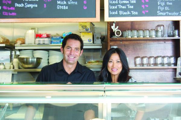 Marine Street Cafe's manager Cliff Guy and owner Skylar Tourigny. Photo