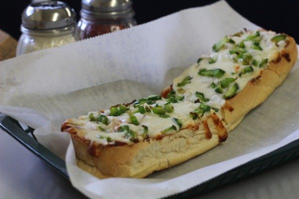 Little Gourmet's pizza bread. Photo by Jessica Mendoza