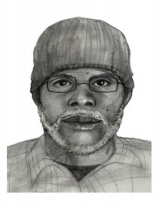 A sketch of the suspect wanted in the stabbing of two minors at the South Bay Galleria last Saturday. Photo supplied