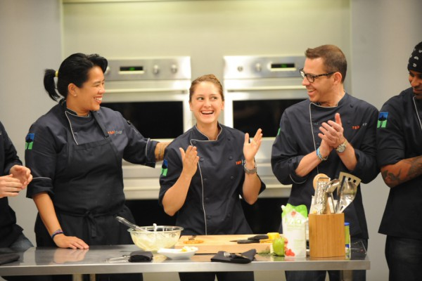 Brooke Williamson enjoys a light moment on the show Top Chef Season 10. Photo contributed