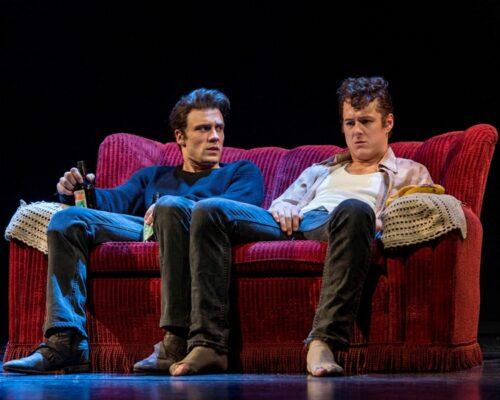 Nick Blood as Stuart Sutcliffe and Andrew Knott as John Lennon. Photo by Craig Schwartz