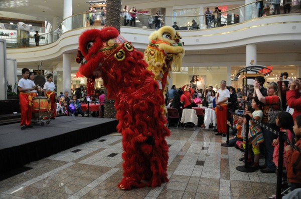 Local Chinese dancers usher in the Year of the Snake at South Bay Galleria. Photo by Diedre Davidson