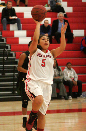 Micaela Enriquez and the Redondo Union Sea Hawks have reached the semifinals of the CIF Southern Section Division 2A Championships. Photo by Ray Vidal