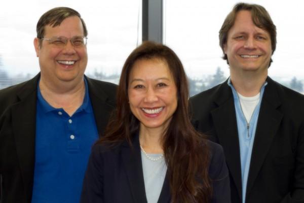 Peninsula Law's Einar Johnson, Beti Bergman and Thomas F. Quilling. Photo by Brad Jacobson
