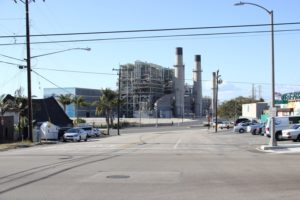 A view of the power plant from Broadway in Redondo Beach. Photo courtesy of AES