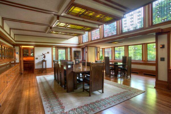 The dining room of the Boynton House. Photo courtesy Kim Bixler