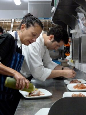Chefs Matt Molina, Nancy Silverton, Greg Hozinsky, and the Strand House's chef Neal Fraser.