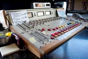 The soundboard at Static Radio. Photo by Chelsea Sektnan