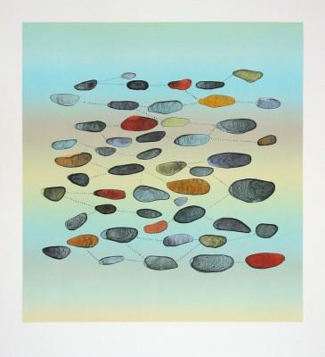 Kimiko Miyoshi's Rocks 1, lithograph.
