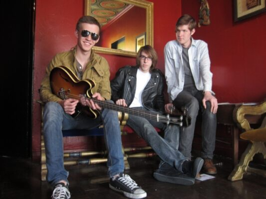 Jack Strahle, Blake Russell, and Alex Strahle. Photo by Joel Russell