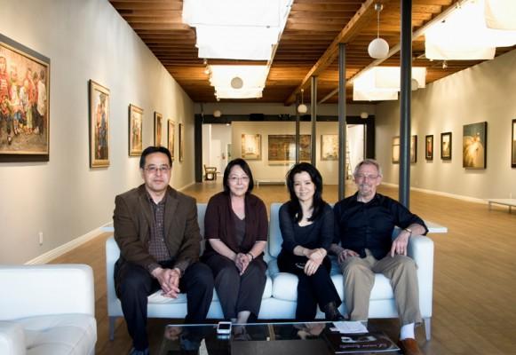 Who's behind the California Museum of Fine Art? Let's start here: L-r, Brian Higa, Charlene Nishimura, Dali Higa, and Dan McCaw. Photo by Gloria Plascencia