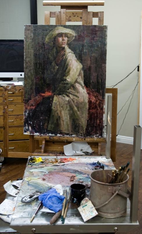 Work in progress by Dali Higa. Photo by Gloria Plascencia