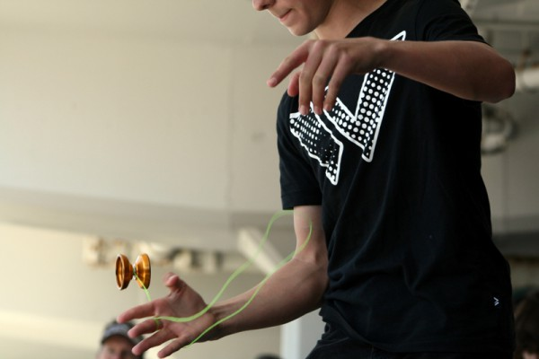 A yo-yo specialist takes the stage to compete at the 39th Annual Festival of the Kite, which also included jiu-jitsu and yo-yo competitions. Photo