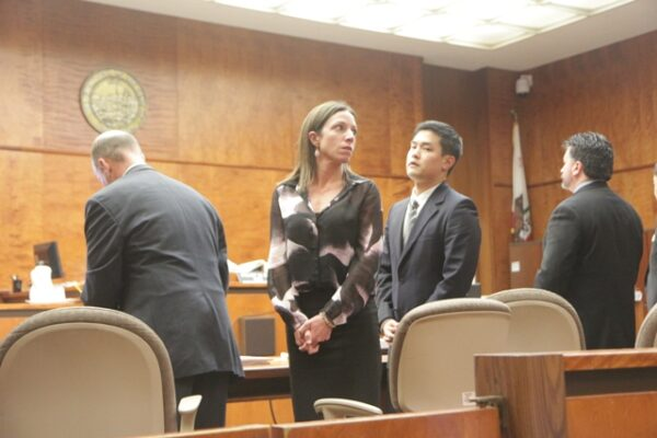 Simona Wilson shortly after the verdict was announced in her trial versus Southern California Edison. Photo by Chelsea Sektnan