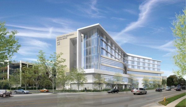 Torrance Memorial has a new 7-story, 256 room patient wing which is nearing completion.