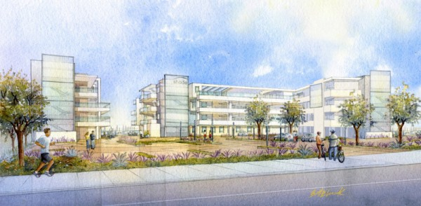 A rendering of Shade Hotel as seen from Harbor Drive. Photo courtesy of The Zislis Group
