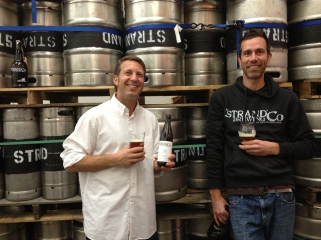 Rich Marcello and Joel Elliot of Strand Brewing Co. Photo by Chelsea Sektnan