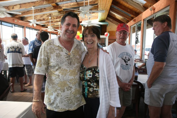 Tomboy's owners Tom and Vira Zevgaras at their Hermosa Strand location. Photo by Kevin Cody