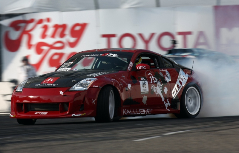 Redondo Beach local Carl Rydquist competing in the Formula DRIFT series. Photo by Larry Chen