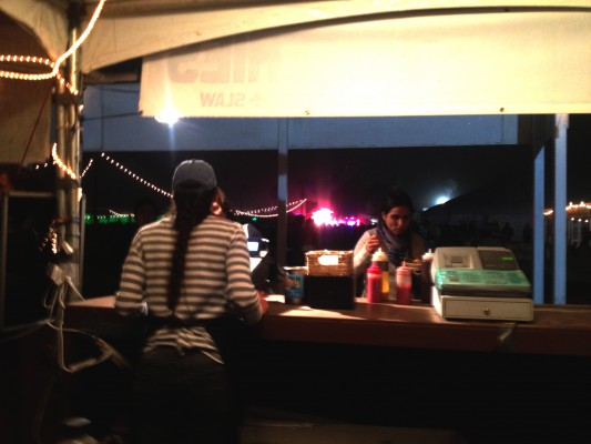 Sati awaits last-minute orders before close Saturday night.