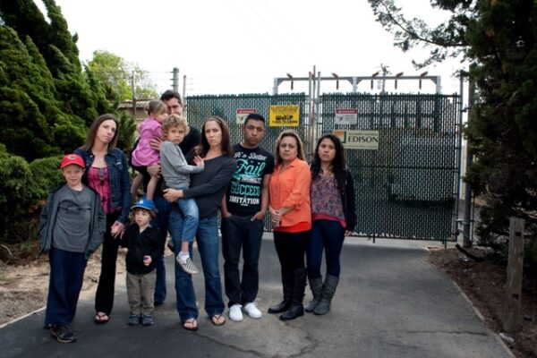 Three of the 28 families involved in a legal fight against Southern California Edison over stray voltage at Knob Hill in Redondo Beach. Photo by Chelsea Sektnan