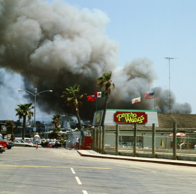 The flames could be seen from afar, as they engulfed 15 Redondo Beach Pier businesses.