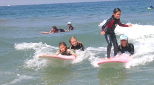 Perfect Day Camp on the playful rollers of Torrance Beach. Photo courtesy of Perfect Day Surf Camp