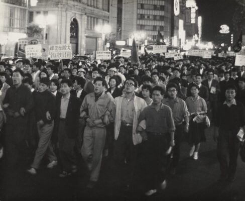 """The United States-Japan Security Treaty Protest"" (May 26, 1960), by Hiroshi Hamaya. ©Keisuke Katano. The J. Paul Getty Museum, Los Angeles"