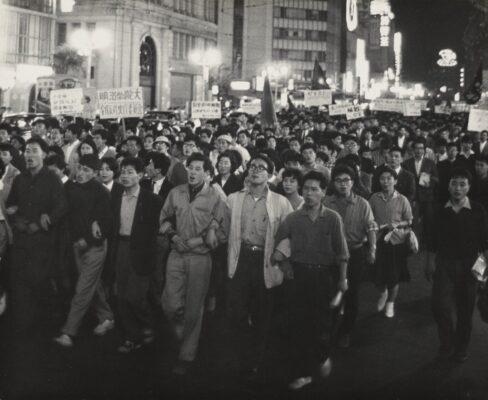 """The United States-Japan Security Treaty Protest"" (May 26, 1960), by Hiroshi Hamaya. ©Keisuke Katano. The J. Paul Getty Museum, Los Angeles"