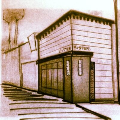 A sketch of soon-to-come 50-seat restaurant Little Sister in Manhattan Beach. 1131 Manhattan Ave. Courtesy of Brian Cooley