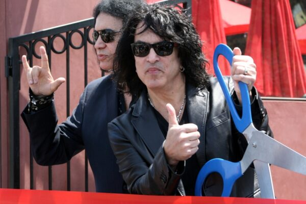 Gene Simmons and Paul Stanley of Kiss cut the ribbon at the new Rock & Brews on PCH and PV Blvd. Photo by Rachel Reeves