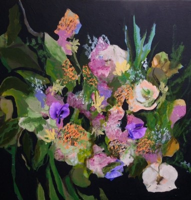 """Mina Tang Kan, Jean Stepheson (whose work """"Pansies""""is  shown here) and Vicki Williams will be featured in the exhibition """"Light+Energy"""" at the Village Gallery in Palos Verdes. Show opens Monday, June 24 with opening reception Sunday June 30. Village Gallery is located between the PV Library and the Promenade shopping center at 300C, 627 Silver Spur Rd., Rolling Hills Estates. Through August 4."""