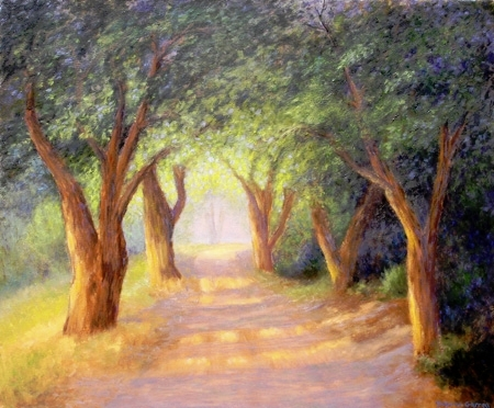 """""""Tree Lined Road,"""" by Dolores Garren"""