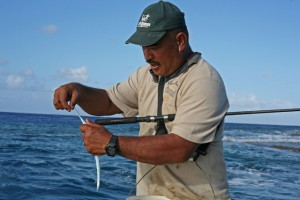 Andrew Matapakia, our fishing guide. Photo by Brie Zeman