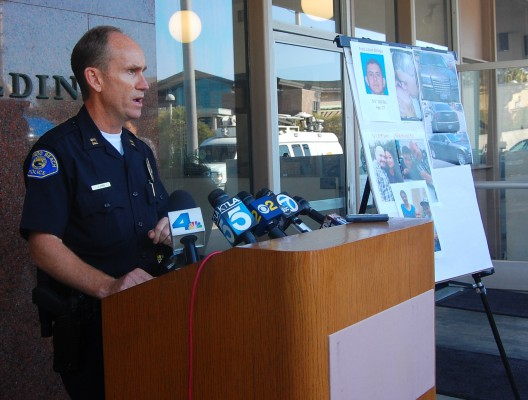 RBPD Cpt. Jeff Hink at a press conference Saturday afternoon.